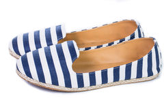 Blue and white color sandal shoes Stock Images
