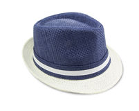 Blue and white colored hat Royalty Free Stock Photography