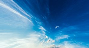 Blue And White Colours Sky Background Royalty Free Stock Photo