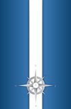Blue and white compass illustration Stock Image