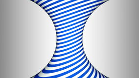 Blue and white concave rotating cylinder with hypnotic effects stock video