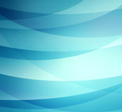 Blue and white curving stripes layered in abstract pattern, blue background Stock Image