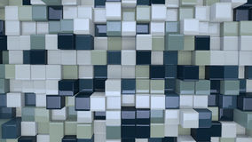 Blue and white 3D boxes Royalty Free Stock Photo