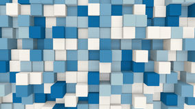 Blue and white 3D cubes geometric background Stock Images