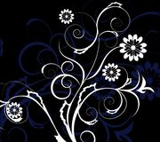 Blue and white decorative flowers Stock Image