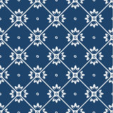 Blue and white delft pattern Stock Photo
