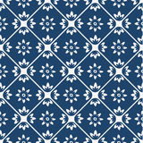 Blue and white delft pattern Stock Image
