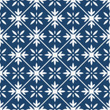 Blue and white delft pattern Royalty Free Stock Photos