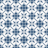 Blue and white delft pattern Stock Photography