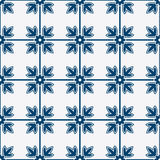 Blue and white delft pattern Royalty Free Stock Photography