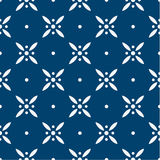 Blue and white delft pattern Stock Images