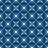 Blue and white delft pattern Stock Photos