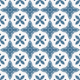 Blue and white delft pattern Royalty Free Stock Images