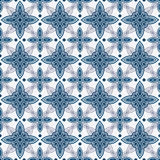Blue and white delft pattern Royalty Free Stock Image