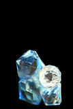 Blue and White Diamonds Royalty Free Stock Image