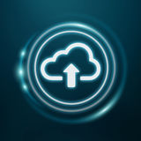 Blue and white digital cloud 3D rendering Royalty Free Stock Photo