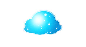 Blue and white digital cloud 3D rendering Stock Photos