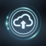 Blue and white digital cloud 3D rendering Stock Image