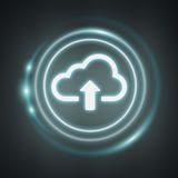 Blue and white digital cloud 3D rendering Stock Photography