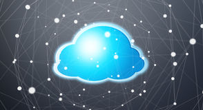 Blue and white digital cloud 3D rendering Stock Images