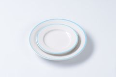 Blue and white dinner set Royalty Free Stock Images