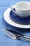 Blue and white dishware Stock Images