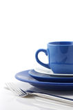 Blue and white dishware Royalty Free Stock Images