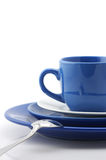 Blue and white dishware Royalty Free Stock Image