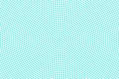 Blue white dotted halftone. Half tone  background. Detailed dotted pattern. Cold palette futuristic texture. Mint blue ink dot on transparent backdrop. Pop art Royalty Free Stock Image