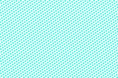 Blue white dotted halftone. Half tone background. Frequent dotted pattern. Cold palette futuristic texture. Mint blue ink dot on transparent backdrop. Pop art vector illustration