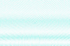 Blue white dotted halftone. Half tone  background. Horizontal dotted gradient. Cold palette futuristic texture. Mint blue ink dot on transparent backdrop. Pop Royalty Free Stock Image