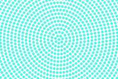Blue white dotted halftone. Half tone background. Radial dotted pattern. Cold palette futuristic texture. Mint blue ink dot on transparent backdrop. Pop art royalty free illustration