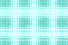 Blue white dotted halftone. Half tone background. Regular dotted gpattern. Cold palette futuristic texture. Mint blue ink dot on transparent backdrop. Pop art royalty free illustration