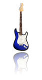 Blue and white electric guitar Royalty Free Stock Photography