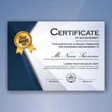 Blue and white elegant certificate of achievement Royalty Free Stock Photography