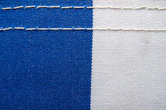 Blue and white fabric Royalty Free Stock Images