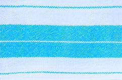 Blue and white fabric texture Stock Photo