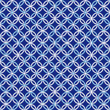 Blue and white Fabric texture seamless  tile background Royalty Free Stock Photo