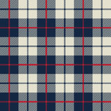 Blue and white fabric texture in a square pattern stock illustration