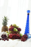 Blue and White Feast Stock Image