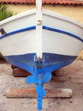 Blue and White Fishing Boat, Caique Stock Image