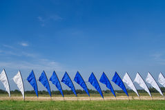 Blue and white flags Stock Photography