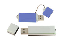 Blue and white flash memory isolated Stock Image