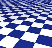 Blue and white floor tiles Royalty Free Stock Image
