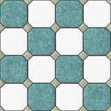 Blue white floor tiles seamles pattern texture background Stock Photo