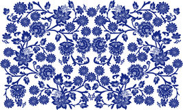 Blue on white floral background Stock Image