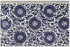Blue and White Floral Design Royalty Free Stock Photos