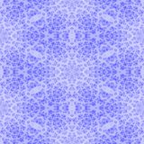 Blue white floral snowflake fractal seamless pattern Royalty Free Stock Images