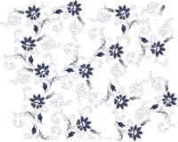 Blue on white flower background vector illustration