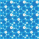 Blue & White Flower Pattern Stock Images